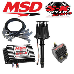 Msd Ignition Kit Programmable 6al 2 Distributor Wires Coil Small Block Chevy