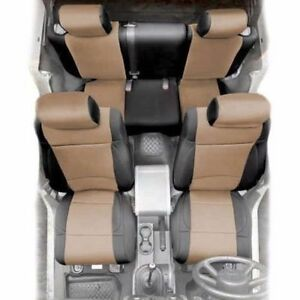 Front And Rear Neoprene Seat Covers Tan For Jeep Wrangler Jk 2007 4 Door 471825