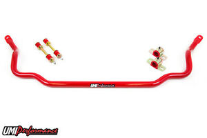 Umi Performance 73 77 Gm A body 1 250 Solid Front Sway Bar Red Chevelle Cutlass