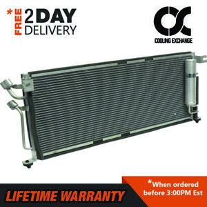 New Condenser For Mitsubishi Lancer 2004 2007 2 0 2 4 L4 Lifetime Warranty