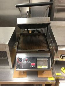 Star Cg14it Sandwich Panini Grill Press 240v Grooved Cast Iron Plate W Timer
