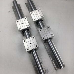 2pc Cylinder Rail Optical Axis Linear Guide Sbr16 L 1000mm 4pc Sbr16uu Slider