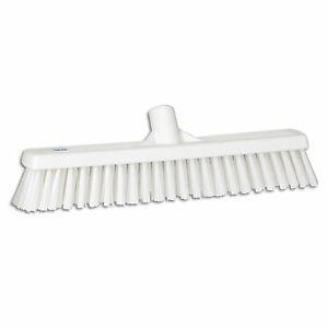 Ust Push Broom Soft hard Bristle 2 x16 White 1 Ea
