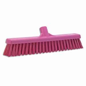 Ust Push Broom Soft hard Bristle 2 x16 Pink 1 Ea