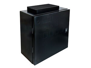 Wall mount Enclosure For Electric Brewery Panel Black 16x16x8 80a Heat Sink