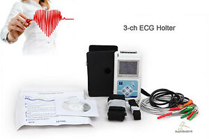 Contec Dynamic Ecg Ekg System 24 Hours Holter Usb Pc Software 3 ch 5 leads