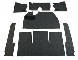 1954 1956 Vw Bug Sedan Basic Carpet Kit 7pcs w o Footrest Black