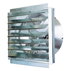 Ventamatic If24 24 inch 4 100 cfm Heavy Duty Exhaust Fan With Shutter If24ups