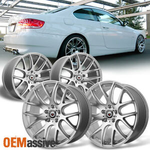 Fits Bmw Staggered Concave 19x8 5 19x9 5 F R Csl Style Silver Alloy Wheels
