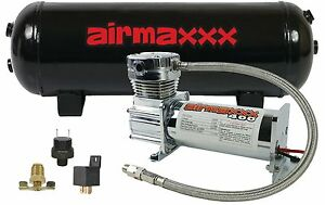 Air Compressor Chrome 400 Airmaxxx 3 Gallon Air Tank Drain 120 On 150 Off Switch