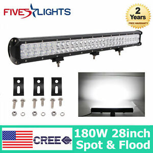 36 Inch 234w Cree Led Light Bar Work Spot Flood Offroad Driving Ute Jeep 34 38