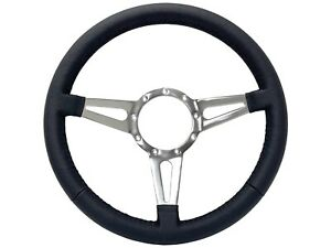 Volante S9 Series Premium Leather 9 Bolt Steering Wheel 3 Spoke With Slots