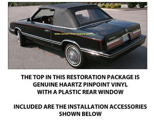 Chrysler Lebaron Convertible Top Do It Yourself Package 1982 1983