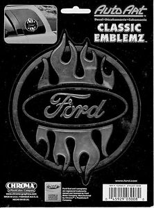 Ford With Flames Decal 3008