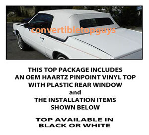 Cadillac Eldorado Convertible Top Do It Yourself Pkg 1982 1986
