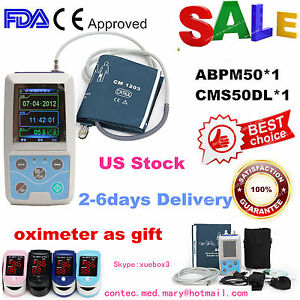 Usa Abpm50 24h Arm Nibp Care Ambulatory Blood Pressure Monitor pulse Oximeter