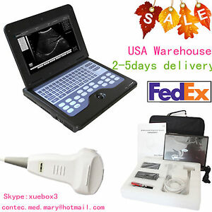 Usa Fedex portable Laptop Machine Digital Ultrasound Scanner 3 5 Convex Probe