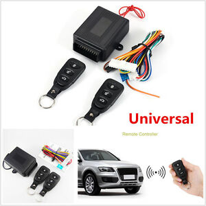 Universal Car Keyless Entry System Remote Central Control Door Lock Locking Kit