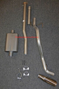 13 15 Toyota Tacoma Cat Back Single Exhaust Side Exit W Fullboar 2 Chamber