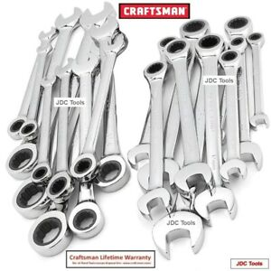 Craftsman Tools 20 Pc Ratcheting Combination Wrench Set 14 10 8 7