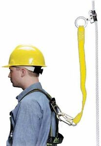 Miller 8175wls 3ftyl Trailing Rope Grabs With 3 Web Lanyard Locking Snap Hook