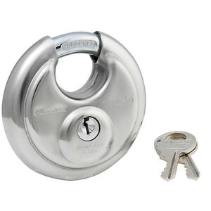 Master Lock 40kadpf Wide Stainless Steel Discus Padlock With Shrouded Shackle