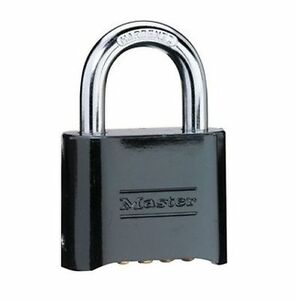 Master Lock 178d 2in Wide Set Your Own Combination Solid Body Padlock Black