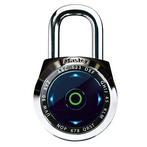 Master Lock 1500exd Dial Speed Combination Digital Padlock Black Or White