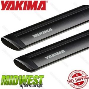 Yakima Universal 50 Black Jetstream Roof Rack Cross Bar Pair