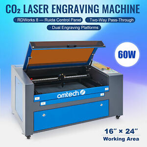 Usb 60w 16x24 400x600mm Co2 Laser Engraver Egravering Cutter Machine Upgraded