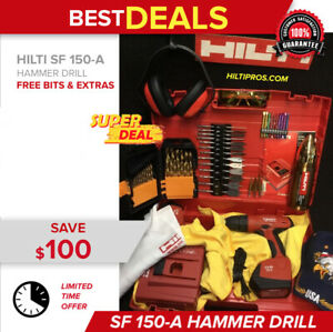 Hilti Sf 150 a Cordless Drill 2 Batteries Free Thermo Extras Fast Ship