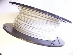 White Vinyl Coated Wire Rope Cable 1 16 3 32 7x7 250 Ft Reel