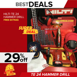 Hilti Te 24 Hammer Drill Great Condition Free Thermo Extras Quick Ship