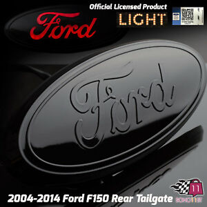 2004 2014 Ford F150 Truck Rear Tailgate 9 Emblem Black Licensed Led Light 6620