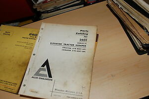 Allis Chalmers 260e Series A Tractor Elevator Scraper Parts Manual Book Catalog