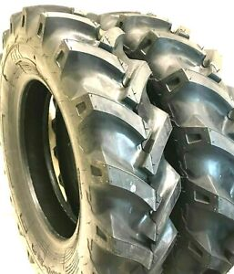 Set Of Two New 6 14 Bkt Tr126 Farm Tractor Lug R 1 Tires 6 00 14