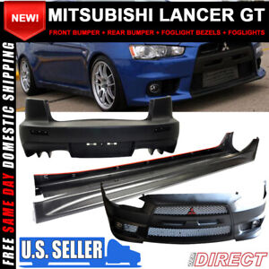 For 08 14 Lancer Gt Front Rear Side Full Evo Conversion Black Grill Bodykit