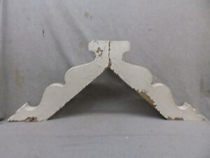 Antique Pair Wood Gingerbread Corbels Shabby Cottage Chic Vintage 317 17r