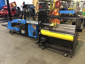 Baldwin 150 Ol Log Stacker W Automatic Dynaric Strapper For Web Printing Press