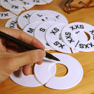 Eboot 40 Pieces Round Clothing Dividers Rack Size Closet Dividers With Marker