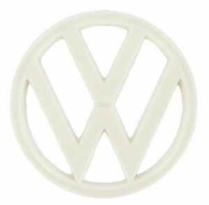 1973 1979 Type 2 Vw Bus Front Nose Emblem White