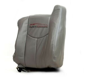 2003 Chevy Suburban Lt Z71 Ls driver Side Lean Back Leather Seat Cover Gray