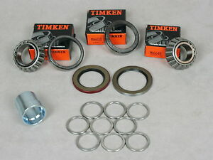 63 82 Corvette 1 Wheel Bearing Spacer shim Kit 2 Timken Bearing seal Kit rear