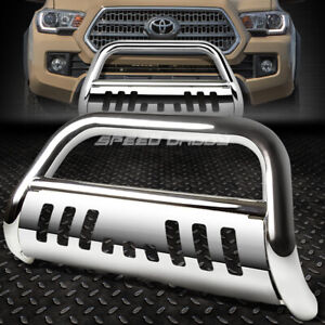 For 16 17 Toyota Tacoma Pickup Truck Chrome 3 Bull Bar Push Bumper Grill Guard
