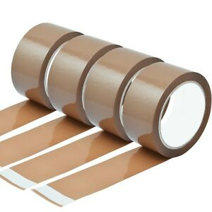 Strong Brown Parcel Packing Packaging Tape Cellotape Carton Sealing 48mm X 66m