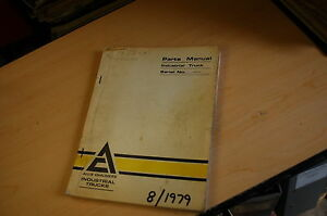 Allis Chalmers Electric Ace Forklift Truck Parts Manual Book Catalog Spare List