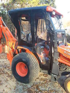 Usa Kubota B26 Soft Winter Backhoe Tractor Cab