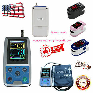 Nibp Monitor 24hour Ambulatory Blood Pressure Holter Abpm50 software oximeter us
