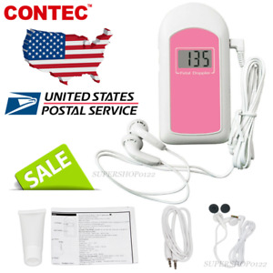 Ce fda prenatal Fetal Doppler Listen Baby Heart Beat Monitor Lcd gel earphone