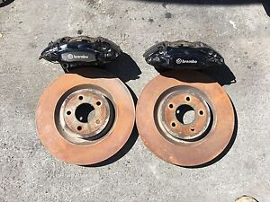 2012 Ford Mustang Gt500 Front Brembo 4 Piston Brake Calipers Rotors